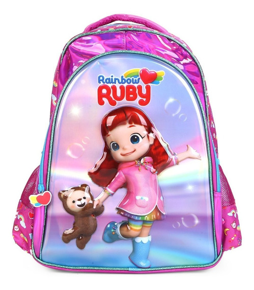 Mochila Rainbow Ruby Escolar Infantil Pacific Estampa 3d