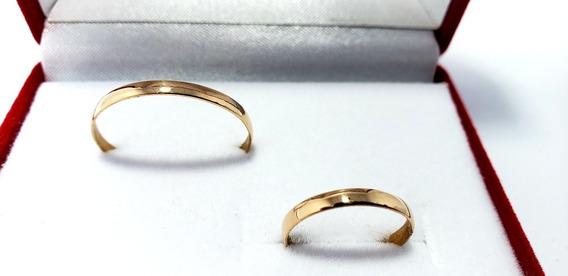 Alianzas Oro 18k 1grs El Par Italianas Casamiento Compromiso