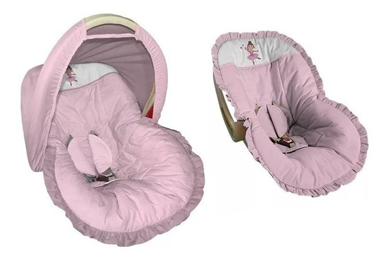 Capa Bebê Conforto Protetor Capota Bailarina Rosa