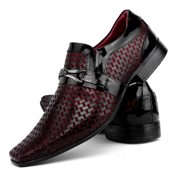 Calçados Social Masculino Stilo Italiano Brilho Envernizado