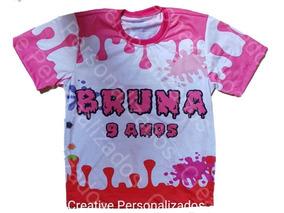 Camiseta Personalizada Festa Slime
