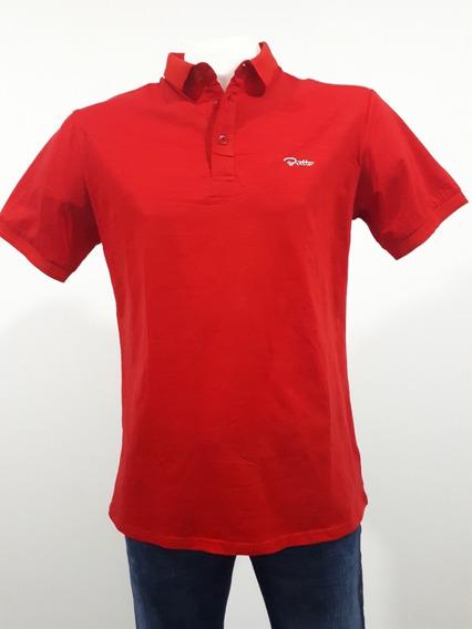 Playera Marca Bratto Tipo Polo Strech Corte Slim 02-03 Rojo