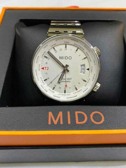 Reloj Mido All Dial Gmt Automático De Caballero (8350) Nuevo