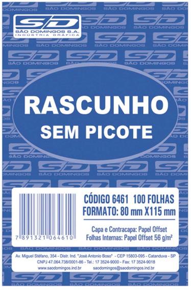 Bloco P/rascunho Sem Picote 80x115 100fls. Sao Domingos C/20