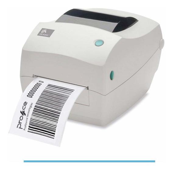 Impressora De Etiquetas E Código De Barras Zebra Gc420t