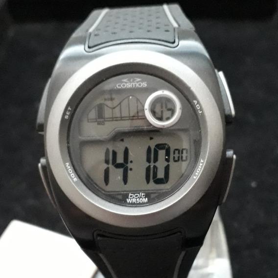 Relógio Cosmos Os40932p Digital Pulseira Resina
