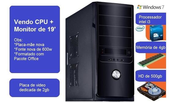 Cpu Intel I3 Com Placa De Video Dedicada De 2gb (usada)
