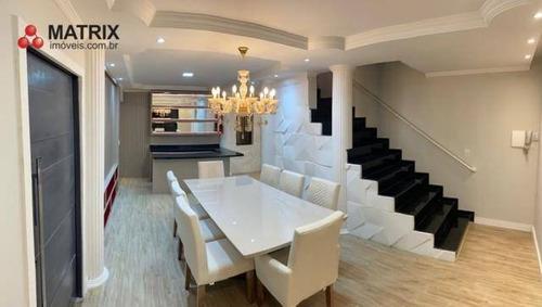 Maravilhoso Sobrado Com 3 Dormitórios À Venda, 360 M² Por R$ 800.000 - Sítio Cercado - Curitiba/pr - So2462