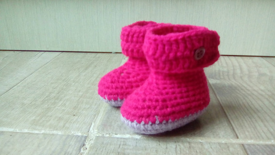 Escarpines Bebe Botitas Tejidas Crochet