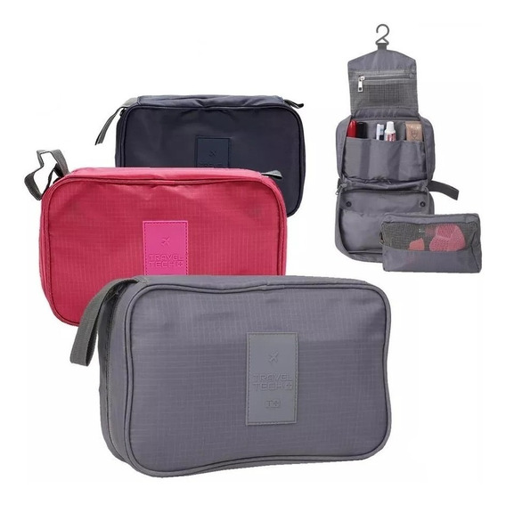 Porta Cosmeticos Neceser Viaje Organizador Con Percha Oferta