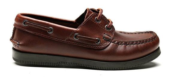 Zapato Náutico Colegial Cuero Escolar Niño Talle 20-39 Kraim