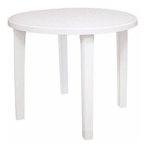 Mesa Plástica Branca 90cm Redonda Tramontina    26218