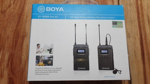 Microfone Lapela Boya Wm8