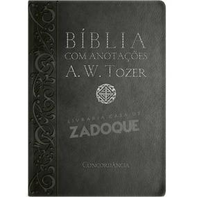 Bíblia A.w.tozer Média Lx C/ Anotações Preta