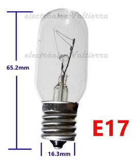 Foco Incandescente 25w 130v Máquina De Coser Refrigerador Microondas Soquet E17