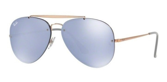 Oculos Sol Ray Ban Blaze Aviador Rb3584n 90531u Bronze Azul