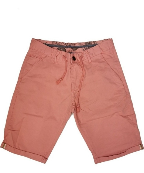 Bermuda Gabardina Hombre Moda Short Casual Premium Slim Fit