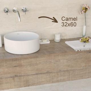 Porcelanico Rectificado 32x60 Piso Pared Tendenza Camel 1ª