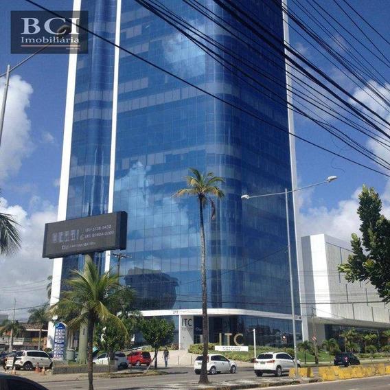 Sala Para Alugar, 130 M² Por R$ 7.500/mês - Pina - Recife/pe - Sa0075