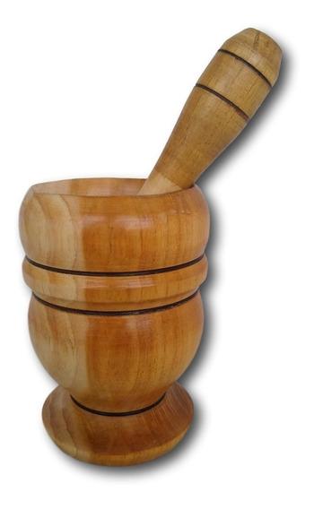 Socador De Temperos Pilão De Madeira Cozinha Ref: 9833