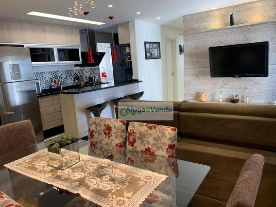 Apartamento Com 3 Dormitórios, 1 Suíte E 2 Vagas, À Venda No Condomínio Fatto Qualityínipor R$ 530.000 - Vila Augusta - Guarulhos/sp - Ap0209