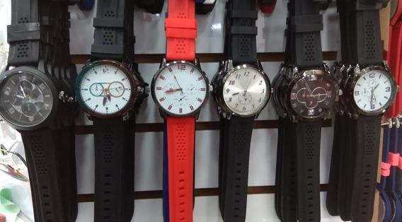 Kit 10 Relógios Femininos Masculino Atacado Couro Sintético