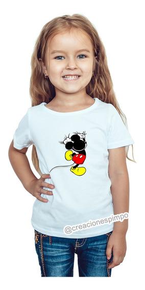 Camiseta Niña Mickey Mouse Moda Lifestyle Poliester Cpr8