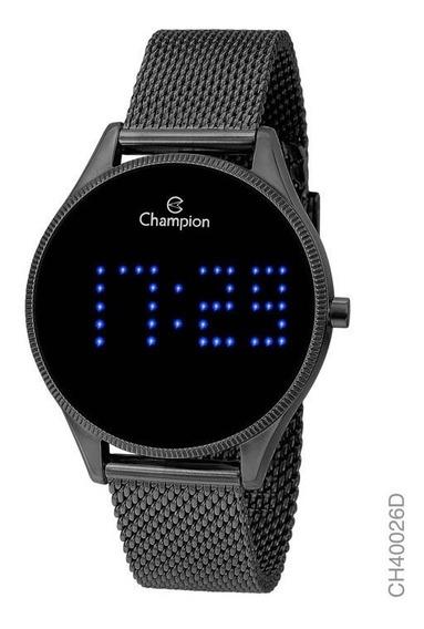 Relógio Champion Unissex Digital Ch40026d Preto Redondo