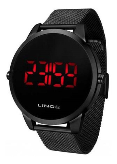 Relógio Lince Digital Unissex Preto Mdn4586l