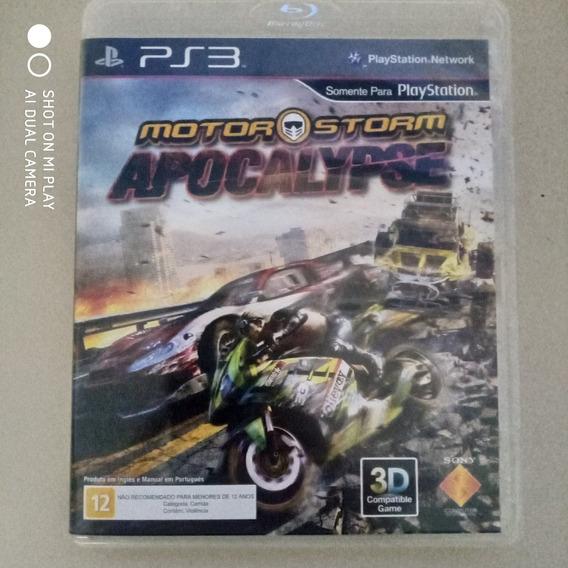 Jogo Ps3 Motor Storm Apocalypse Original Física Usado
