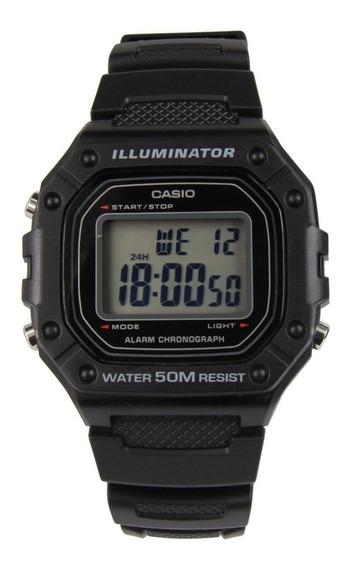 Relógio Casio Masculino Digital W218h Original - Preto Nf