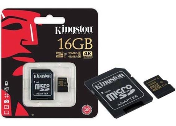 Cartão De Memória Classe 10 Micro Sd 16gb Kingston