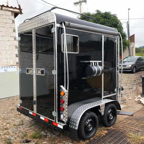 Imagem 1 de 15 de Trailer Reboque Carretinha Para 2 Cavalos