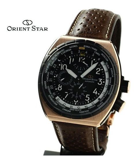 Relógio Orient Automático Masculino Marrom Pulseira Couro
