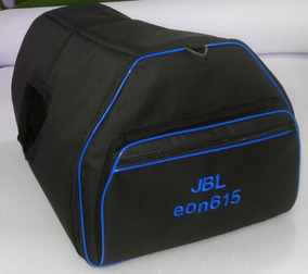 Bag Capa Caixa De Som Jbl Eon 615 Acolchoada Azul