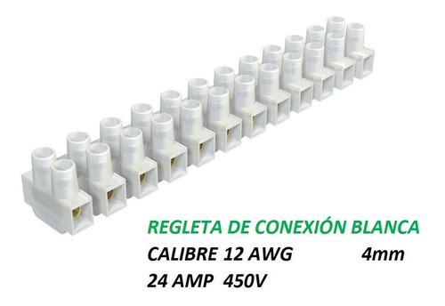 Regletas De Conexión Para Cable Calibre 12 Awg Blanca