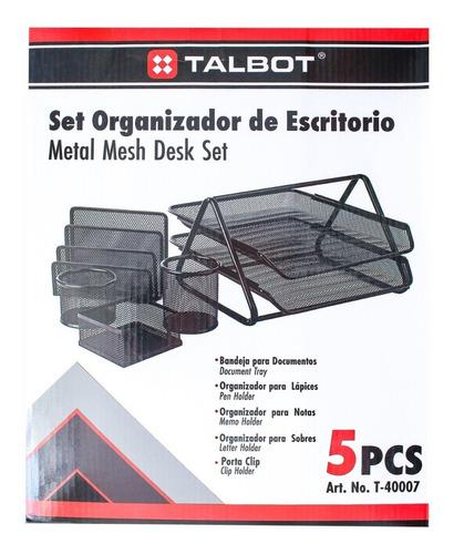 Organizador Oficina Malla 5 Piezas Talbot