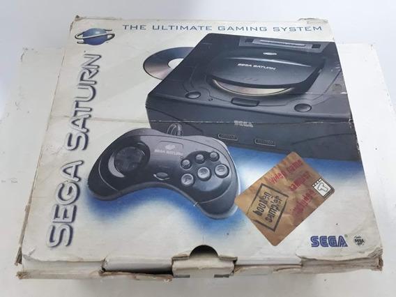 Sega Saturn Com Caixa Mais Jogo Original Street Fighter !