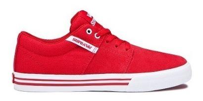 Zapatillas Niños Kids Stacks Vulc Supra Rojo