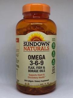 Triplo Omega 3-6-9 C/ 200 Softgels Sundown Importado Eua