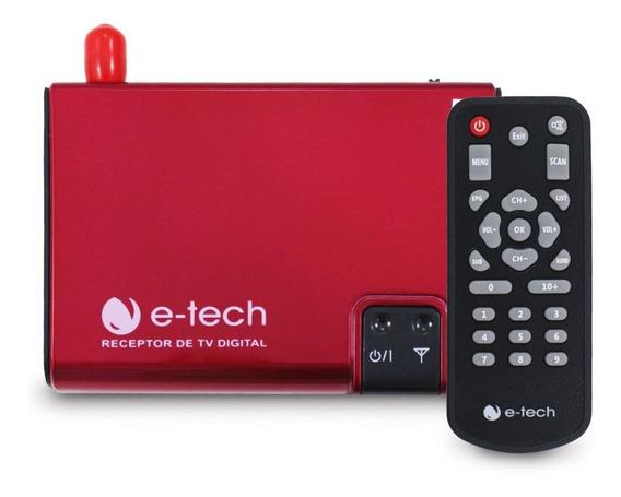 Receptor Tv Digital Automotivo E-tech Antena Dvd Multímidia