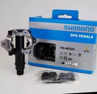 Pedal Shimano M-520Clip Com Tacos