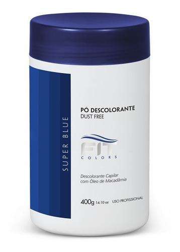 Pó Descolorante Super Blue Azul 400gr Fit Cosmetics
