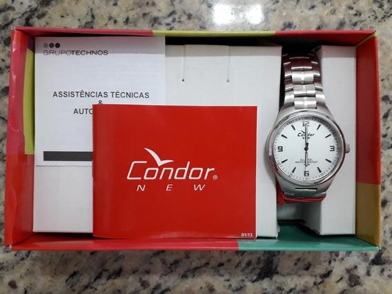 Relógio Condor New Masculino Aço Inoxidável Novo Na Caixa