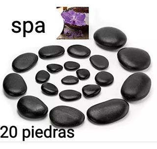 Kit 20\piedras Volcanicas Para Masajes