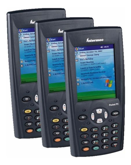 Kit Com 3 Coletores De Dados Laser Intermec 730 Color - Wifi