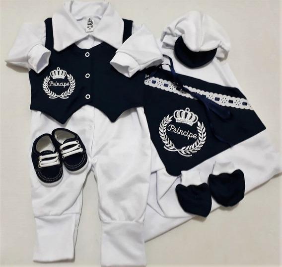 Saída De Maternidade 6 Peças 100% Algodão - Masculino