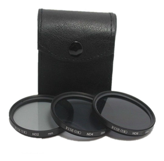 Kit De Filtro Nd2 + Nd4 + Nd8 + Case 52mm Nikon Sony Canon