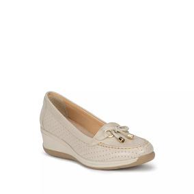 Confort Flat Zapatilla Loafer Mujer Hueso Andrea 2434964