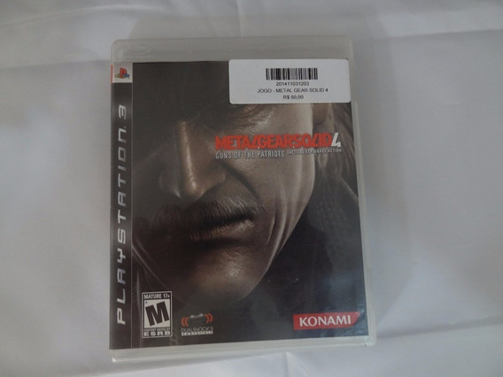 Jogo Ps3 - Metal Gear Solid 4